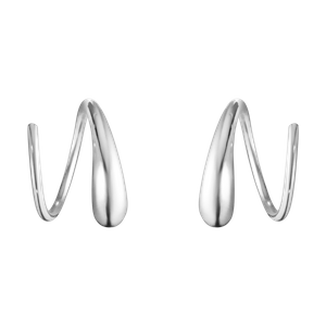 Preview image of Georg Jensen Mercy Swril Sterling Silver Hoop Earrings