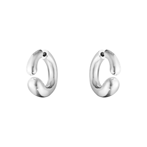 Preview image of Georg Jensen Mercy Sterling Silver Open Hoop Earrings
