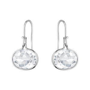 Preview image of Georg Jensen Sterling Silver Savannah Rock Crystal Drop Earrings