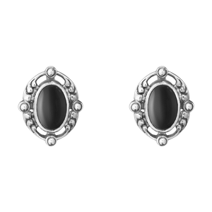 Preview image of Georg Jensen Sterling Silver Heritage Black Onyx Earrings
