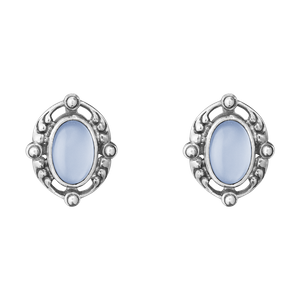 Preview image of Georg Jensen Sterling Silver Heritage Blue Chalcedony Earrings