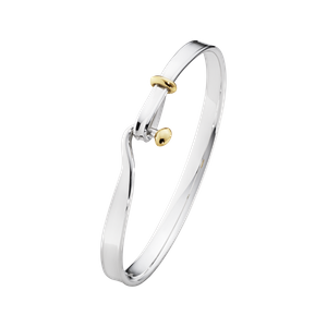 Preview image of Georg Jensen Torun Silver and 18 Karat Yellow Gold Bangle