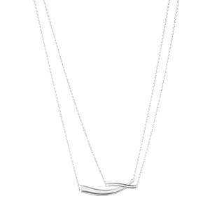 Preview image of Georg Jensen Marcia Sterling Silver Double Chain Necklace