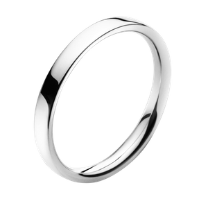Preview image of Georg Jensen White Gold Plain Magic Ring Size 54