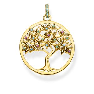 Preview image of Thomas Sabo Yellow Gold Plated Tree of Love Pendant