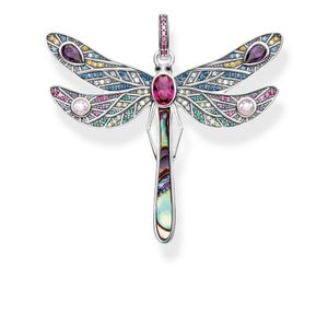 Preview image of Thomas Sabo Sterling Silver Multi Stone Large Dragonfly Pendant
