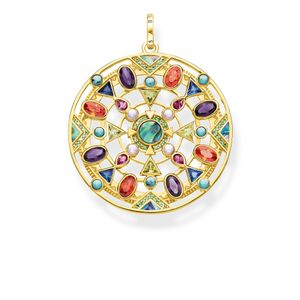 Preview image of Thomas Sabo Yellow Gold Plated Amulet Multi-Stone Pendant