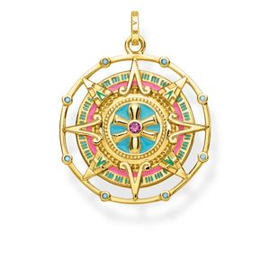 Preview image of Thomas Sabo Yellow Gold Plated Amulet Pendant