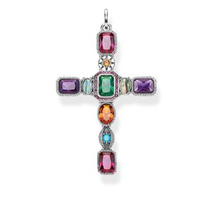 Preview image of Thomas Sabo Ornate Multi Stone Cross Pendant