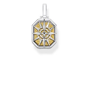 Preview image of Thomas Sabo Yellow Gold Plated Rebel Compass Pendant