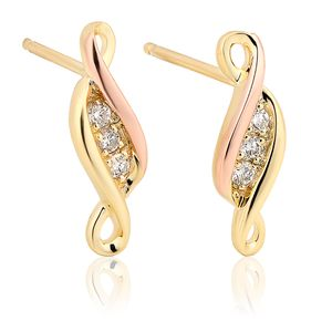 Preview image of Clogau Gold Past Present Future Diamond Earrings