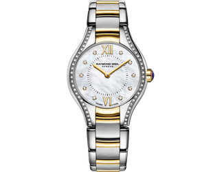 Preview image of Raymond Weil Ladies 24mm Noemia Steel and Yellow Gold Plated Diamond Set Bracelet Watch
