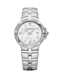 Preview image of Raymond Weil Ladies Parsifal Diamond Dots & Bezel Bracelet Watch