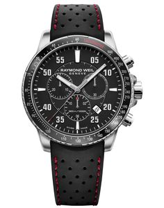 Preview image of Raymond Weil Tango Black Chronograph Strap Watch