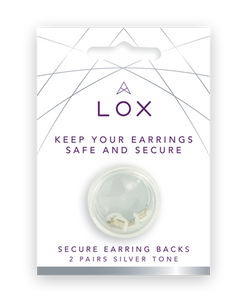 Preview image of Connoisseurs LOX Silver Tone Earring Backs (2 pairs)