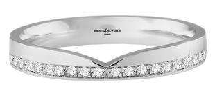 Preview image of 9ct White Gold 3mm Shape to Fit 0.12ct Diamond Wedding Ring