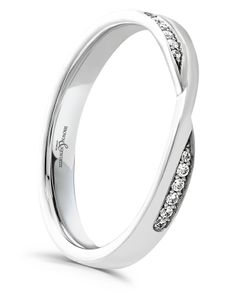 Preview image of Platinum 2.5mm Twist Diamond Set Ladies Wedding Ring