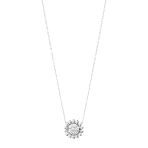 Preview image of Georg Jensen  Sterling Silver Diamond Sunflower Necklace