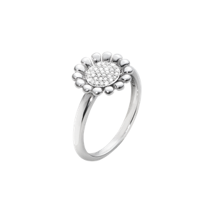 Preview image of Georg Jensen Silver Diamond Set Sunflower Ring