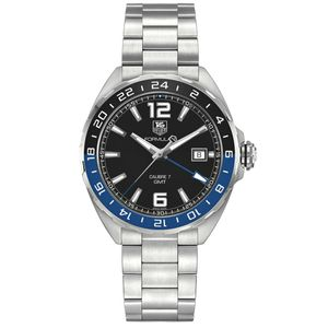 Preview image of Tag Heuer Men's Formula 1 Black and Blue Twin Time Watch
