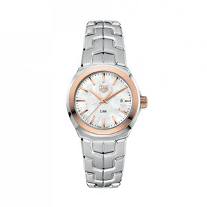 Preview image of Tag Heuer Link Rose Gold Plated and Stainless Steel Ladies Bracelet Watch