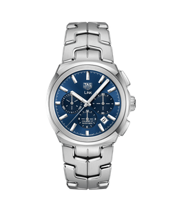 Preview image of Tag Heuer Link Blue Dial Automatic Chronograph Gents Bracelet Watch