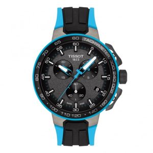 Preview image of Tissot T-Race Cycling Chronograph Black and Blue Rubber Strap