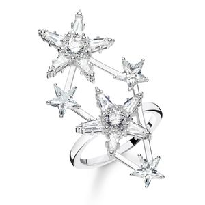 Preview image of Thomas Sabo Stone Set Multi Scattered Stars Ring Size 56