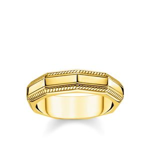 Preview image of Thomas Sabo Yellow Gold Plated Rebel Angular Ring