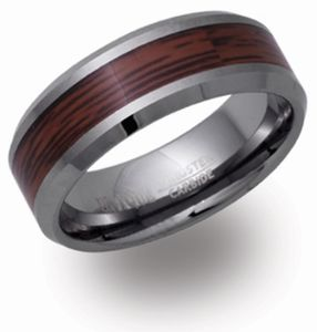 Preview image of Unique Tungsten with Wood Inlay Ring