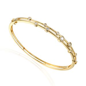 Preview image of 18CT GOLD DIAMOND .64 BUBBLE BANGLE