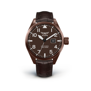 Preview image of Aviator Airacobra P42 Bronze Brown Leather Strap Watch