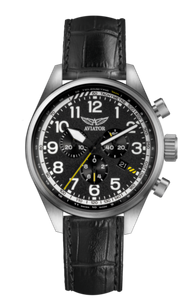 Preview image of Aviator Airacobra P45 Stainless Steel Chronograph Gents Black strap Watch