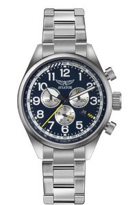 Preview image of Aviator Airacobra P45 Blue Chronograph Stainless Steel Gents Watch