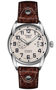 Preview image of Aviator Bristol Scout Ivory Dial Brown Strap Gents watch