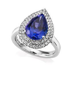 Preview image of PLATINUM TANZANITE 4.60 & DIAMOND .46 RING