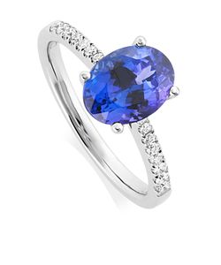Preview image of 18CT WHITE GOLD TANZANITE 2.22CT & DIAMOND .18CT RING
