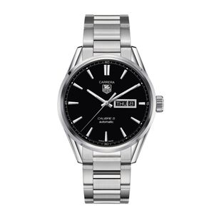 Preview image of TAG Heuer Carrera Calibre 5 Black Dial Day Date Men's Bracelet Watch