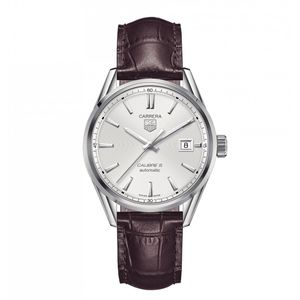 Preview image of Tag Heuer Men's Carrera Cal 5 Silver Strap Watch