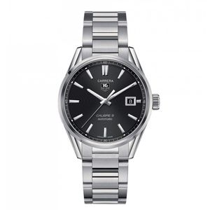 Preview image of TAG Heuer Carrera Grey Dial Calibre 5 Men's Bracelet Watch