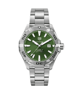 Preview image of Tag Heuer Aquaracer Automatic Green Dial Gents Bracelet Watch