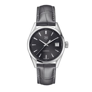 Preview image of TAG Heuer 36mm Carrera Grey Dial Ladies Strap Watch