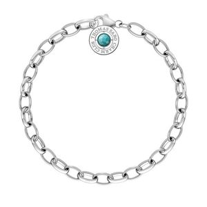 Preview image of Thomas Sabo Silver Turquoise Summer Charm Bracelet