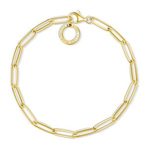 Preview image of Thomas Sabo Yellow Gold Paper Clip Style Charm Bracelet