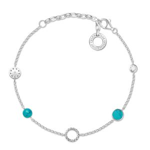 Preview image of Thomas Sabo Charm Club Turquoise Stone Bracelet