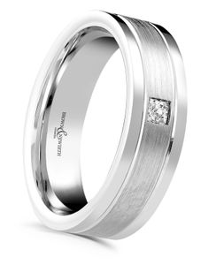Preview image of Palladium 6mm Canopus Diamond Gents Wedding Ring