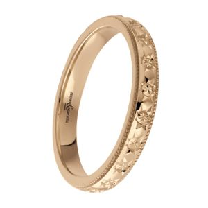 Preview image of 9ct Rose Gold 3mm Sparkle Cut Ladies Wedding Ring
