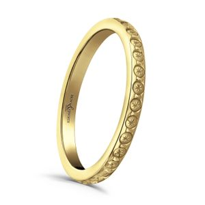 Preview image of 9ct Yellow Gold 2mm Sparkle Cut Ladies Wedding Ring