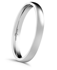 Preview image of 18 ct White Gold 2.5mm Lighter Court Ladies Wedding Ring