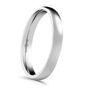 Preview image of Platinum 3mm Rounded Light Court Ladies Wedding Ring